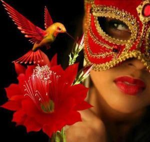 cervena maska