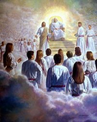 God Jesus throne of heaven