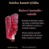 Anielov kameň týždňa: Rubelit