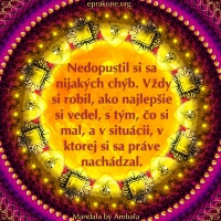 Mandala by Ambala: Nerozoberajme toľko naše pochybenia