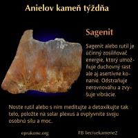 Anielov kameň týždňa: sagenit