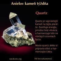 Anielov kameň týždňa: quartz, kremeň, horský krištáľ