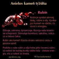 Anielov kameň týždňa: rubín
