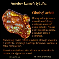 Anielov kameň týždňa: ohnivý achát