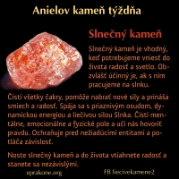 Anielov kameň týždňa: slnečný kameň
