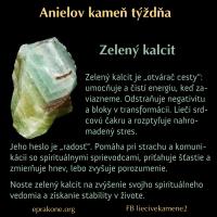 Anielov kameň týždňa: zelený kalcit